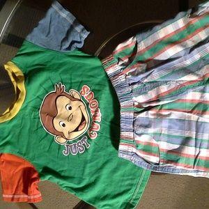 Curious George Toddler Boys Short Set
