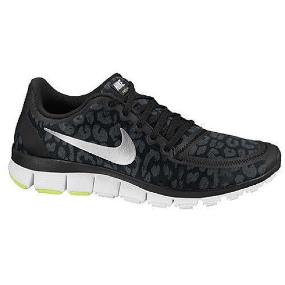 🐯🐆Black Leopard print Nike Free 5.0🐆🐯 83e5b3a26111
