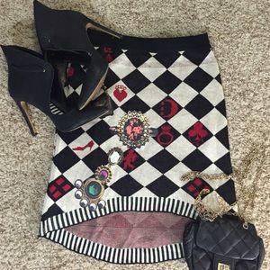 Dresses & Skirts - High Low Argyle Pencil Skirt