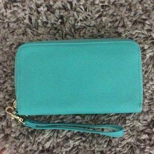 Mint green wallet for sale