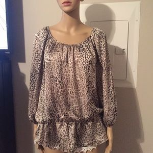 Vince Camuto animal print top.