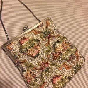 Vintage tapestry bag BEADED!!!