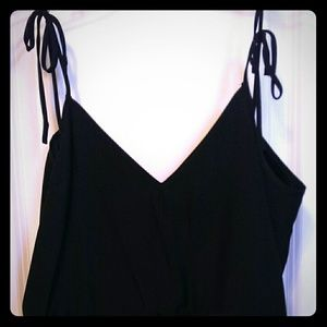 Emerson Fry Tie Shoulder Silk Tank