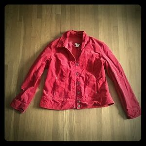 Red velour jacket Sz M