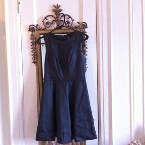 Oasis Faux Leather A-Line Dress
