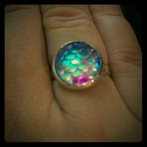 Mermaid/Dragon lavendar scale ring! One size
