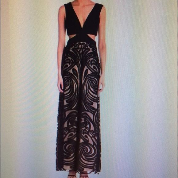 Bcbg Marilyne Vneck Cut Out Gown Size 10 | Poshmark