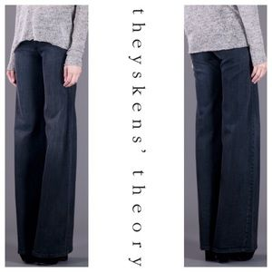 "Theysken's Theory Denim - Theyskens' Theory Wide Leg ""Pinhas"" Jeans NWT"