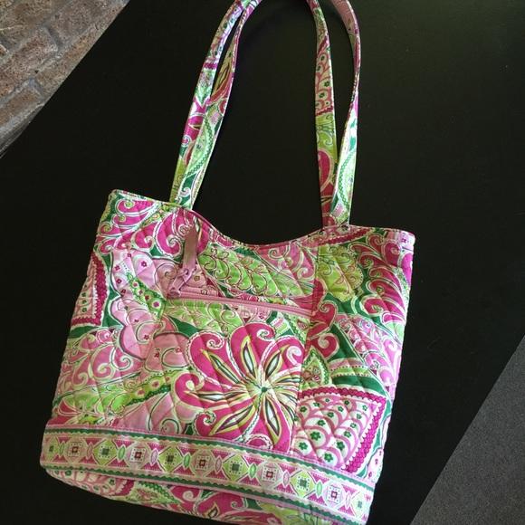 cfc83e831df0 Vera Bradley pink   green floral tote bag. M 55b269d010b8891c0d00a809