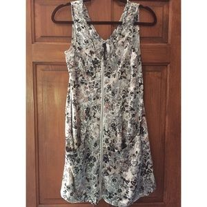 Kenzie Floral Sleeveless Zip Up Dress