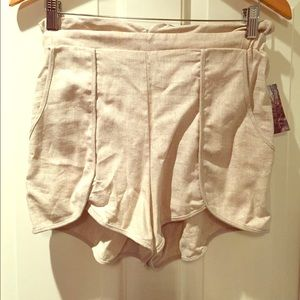 Urban Outfitters High Waisted Linen Shorts