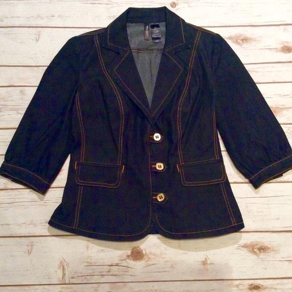 b6bdc17d36443 Bisou Bisou Jackets & Blazers - Bisou Bisou Jean Blazer Size Medium