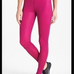 Nike pink dot work-out pant