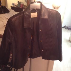 Trussardi Jackets & Blazers - Trussardi Leather Jacket