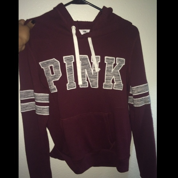 7% off PINK Victoria's Secret Sweaters - Maroon Vs Pink Hoodie ...