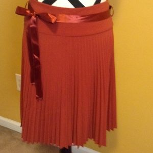 Beautiful pleated skirt sz.S. rust orange color!