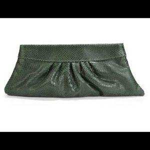 Lauren Merkin Handbags - Lauren Merkin Louise clutch - snake print green