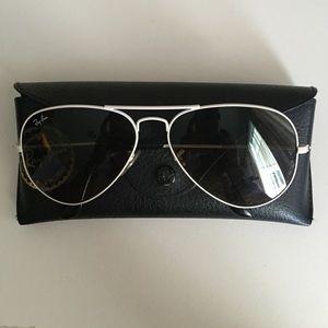 Rayban white aviator sunglasses
