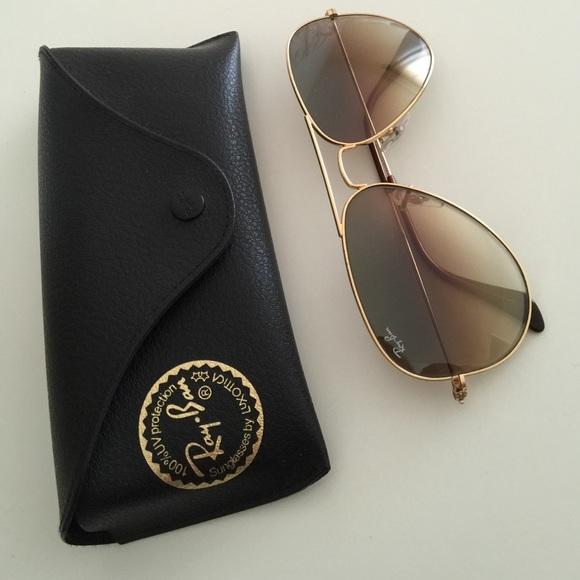 a83f358398967 Ray-Ban Aviator Gradient Sunglasses in Light Brown.  M 55b291920e61763cf400b87e