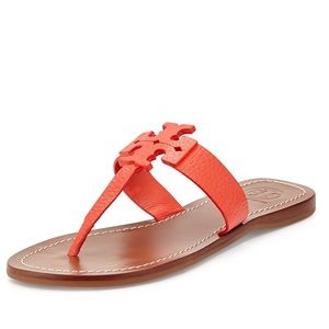 Tory Burch Poppy Coral Moore Thong Sandal 9 NWT