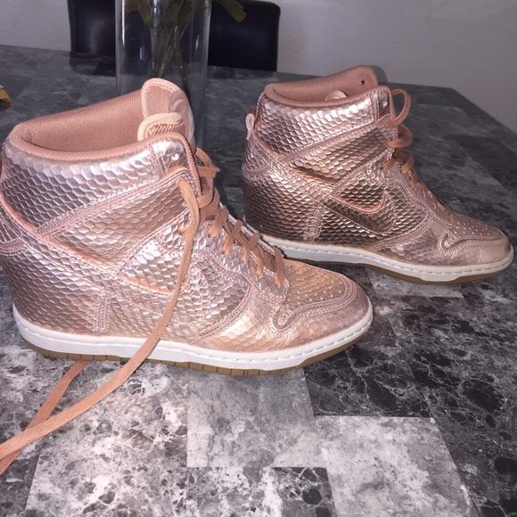 nike dunk sky high snake bronze sneakers