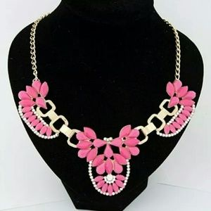 FINAL SALE pink Statement necklace