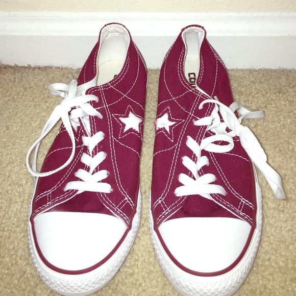 ecc06f129f10 Converse Shoes - Maroon Converse worn once
