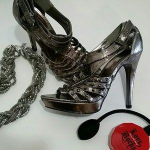 { BOGO 50% } Black Gardenia Studded Heels