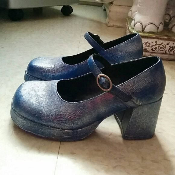 Vintage Shoes 90s Platform Mary Janes Poshmark