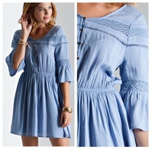 JUST IN✨Light Blue Boho Dress
