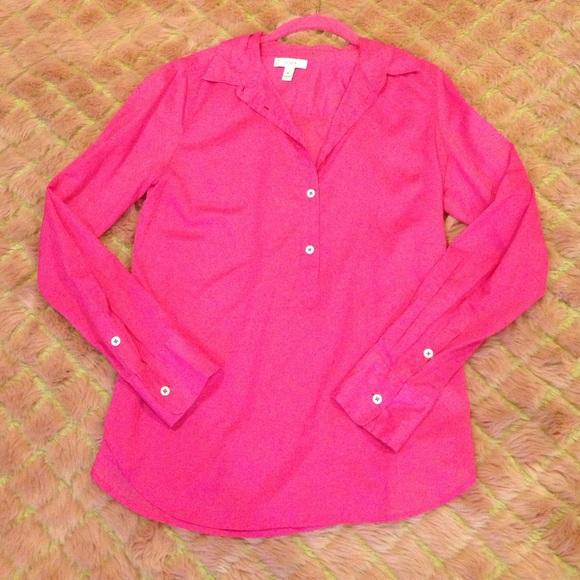 J Crew Hot Pink Silk Blouse 80