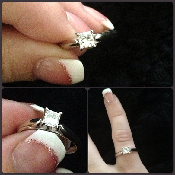 37d4270b5 Kay Jewelers Jewelry - 14k White Gold Diamond Engagement Ring Solitaire 6