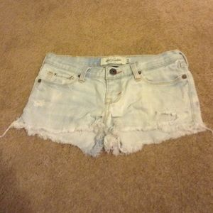 Abercrombie & Fitch Other - Light Wash Cut Off Denim Shorts (kid size)