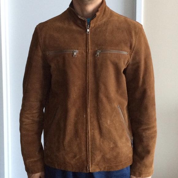 Banana Republic - Banana Republic Men's 100% suede leather jacket ...