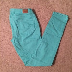 Teal American Eagle jeans