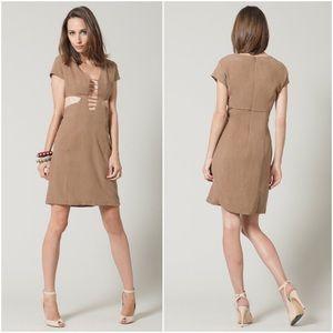 Leyendecker Dresses & Skirts - Leyendecker Silk Woven Cut-Out Dress
