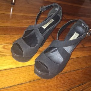 Black Steve Madden Wedges