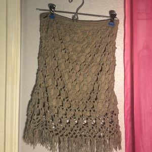Sabo skirt brown crochet