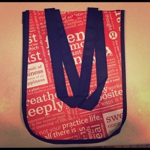 Lululemon reusable tote, small, lot of 2