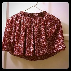 Floral pattern mini skirt