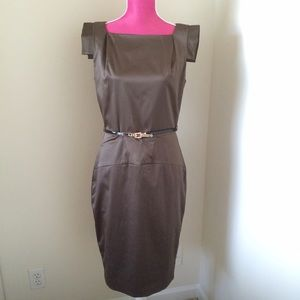 Single Dresses & Skirts - Single 'Victoria' Belted Sheath Dress - Olive