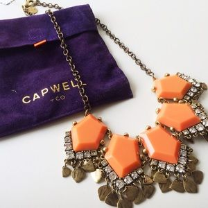 Capwell & Co. Jewelry - Capwell & Co. Coral Stone and Metal Drop Necklace