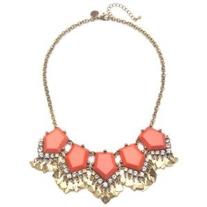 Capwell & Co. Coral Stone and Metal Drop Necklace