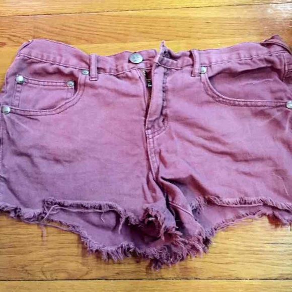 75% off Free People Denim - Free People Dark purple denim shorts ...