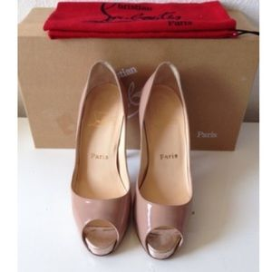 christian louboutin lace very prive pumps