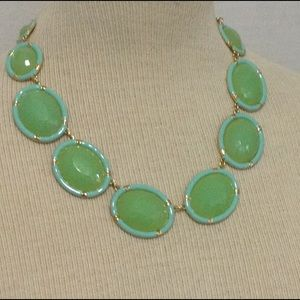 Mint gold statement necklace new