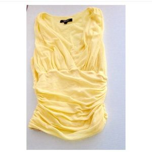 Karen Kane yellow mesh top