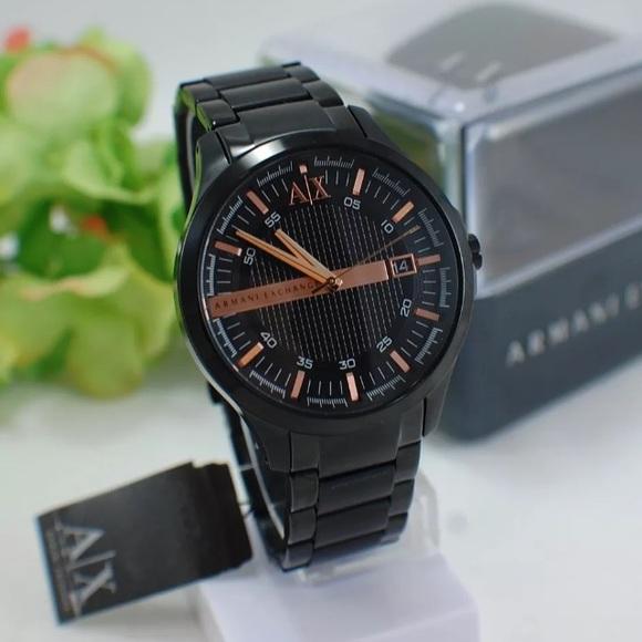 70bdd186d78 Armani Exchange Black w  Rose Gold Watch AX2150