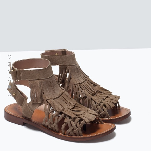 Zara Shoes - Zara leather sandals