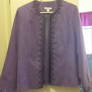 Purple Blazer with black embroidery